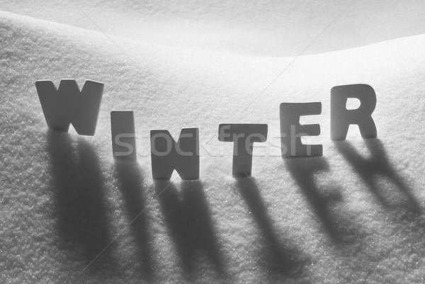 White Word Winter On Snow Stock photo © Nelosa