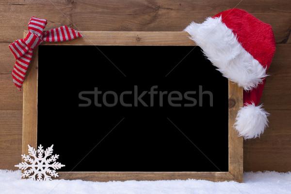 Noel tahta şapka kırmızı döngü Stok fotoğraf © Nelosa