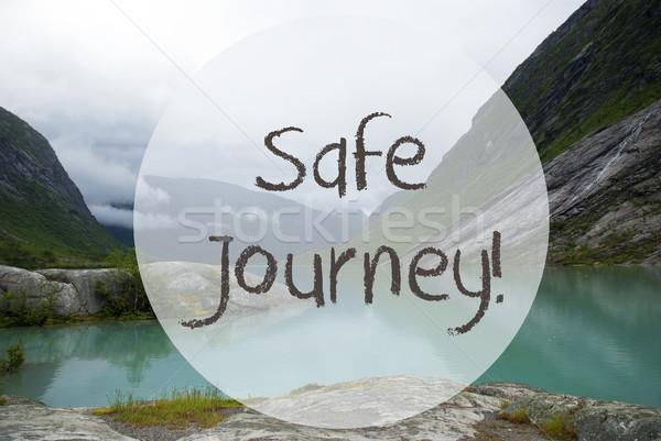 Lake With Mountains, Norway, Text Safe Journey Stock photo © Nelosa