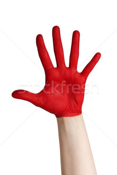 red hand Stock photo © Nelosa