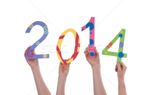 Many People Holding 2014 Stock photo © Nelosa