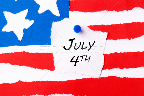 American Flag with July 4th Stock photo © Nelosa