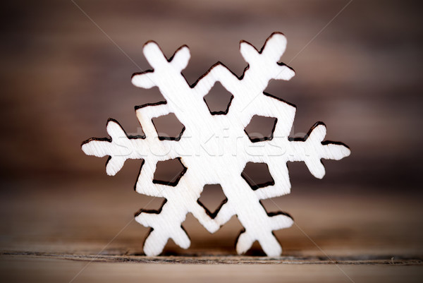 Snowflake on Wood IV Stock photo © Nelosa