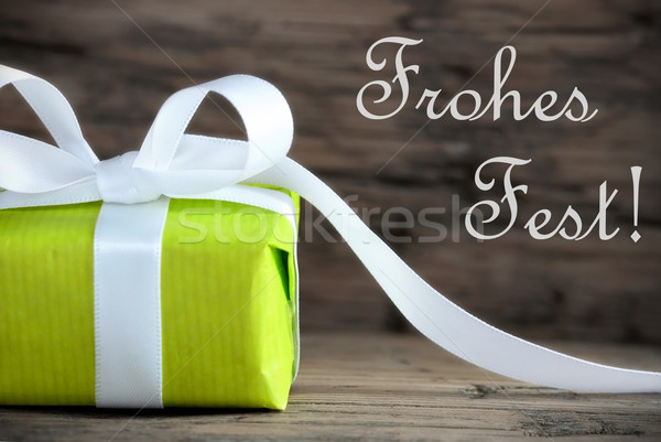 Gift with Frohes Fest Stock photo © Nelosa