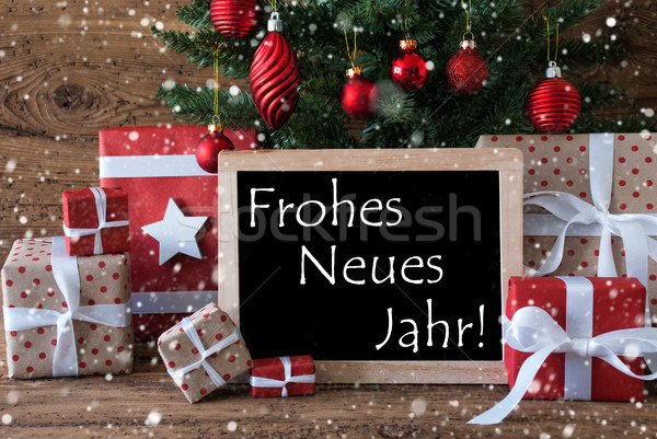 Colorful Christmas Tree With Snowflakes, Neues Jahr Means New Ye ...