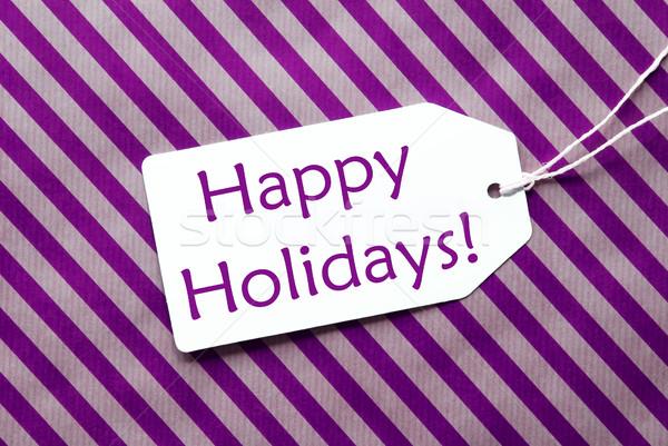 ラベル 紫色 包装紙 文字 幸せ 休日 ストックフォト © Nelosa