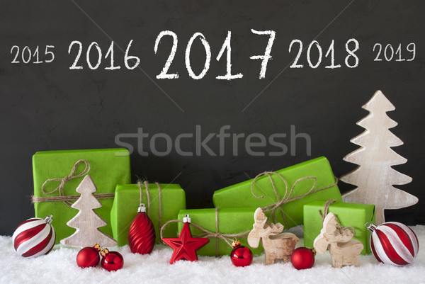 Christmas Decoration, Cement, Snow, Timeline 2017 Stock photo © Nelosa