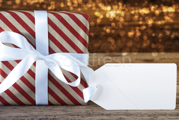 Atmospheric Christmas Gift With Label And Copy Space Stock photo © Nelosa