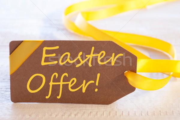 Etykiety tekst Wielkanoc oferta angielski biały Zdjęcia stock © Nelosa