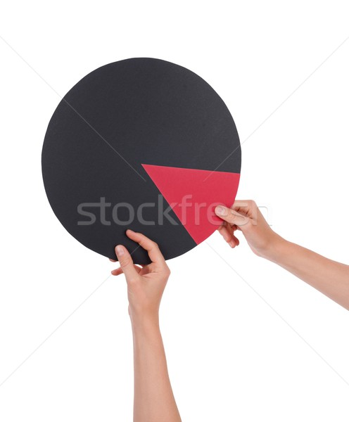 Hands Holding Circular Chart Stock photo © Nelosa
