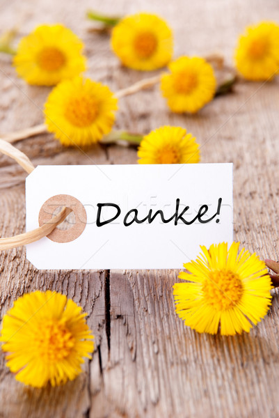 żółte kwiaty banner słowo kwiat kwiaty wiosną Zdjęcia stock © Nelosa