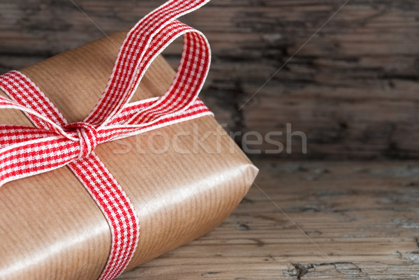 Bruin geschenk hout aanwezig houten exemplaar ruimte Stockfoto © Nelosa