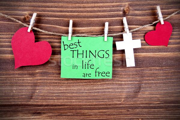 Verde membro provérbio o melhor coisas vida Foto stock © Nelosa