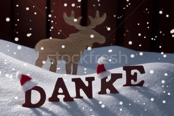 Moose neve rosso lettere Foto d'archivio © Nelosa