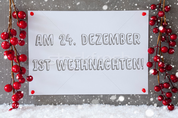 Label, Snowflakes, Decoration, Weihnachten Means Christmas Stock photo © Nelosa