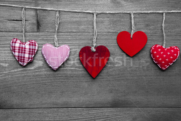 Loving Greeting Card With Red Hearts Stock photo © Nelosa