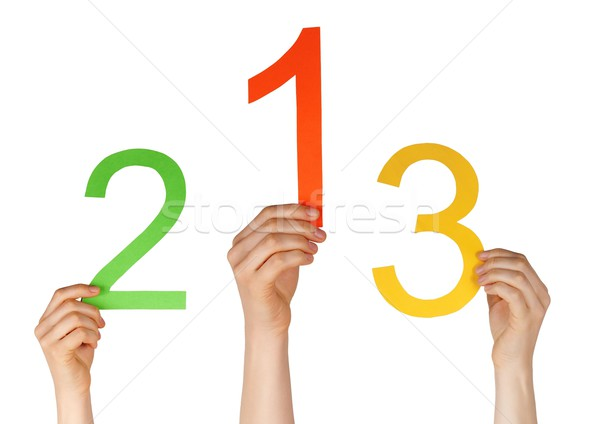 numbers as in a competition Stock photo © Nelosa