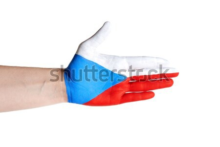 czech hand in handshake gesture Stock photo © Nelosa