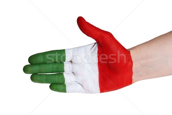 italian handshake Stock photo © Nelosa