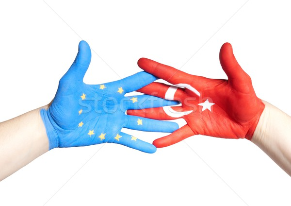 turkey and european hands holding Stock photo © Nelosa