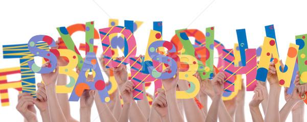 List chaos litery nauki edukacji odizolowany Zdjęcia stock © Nelosa
