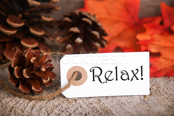 Autumn Label with Relax on it Stock photo © Nelosa