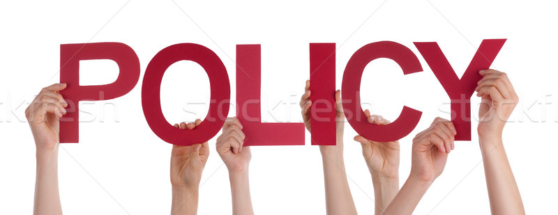 Many People Hands Holding Red Straight Word Policy Stock photo © Nelosa