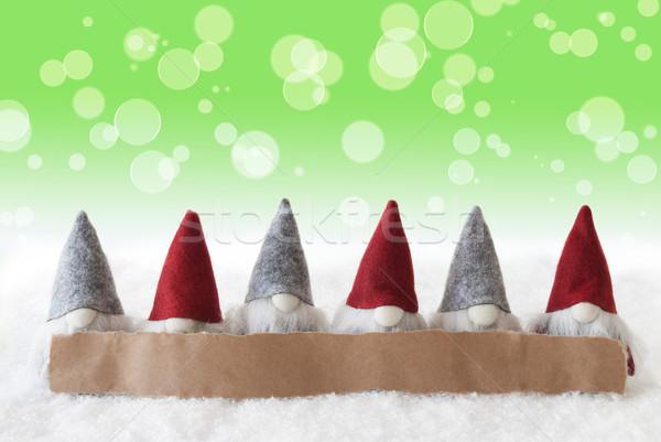 Zöld bokeh copy space címke hirdetés karácsony Stock fotó © Nelosa