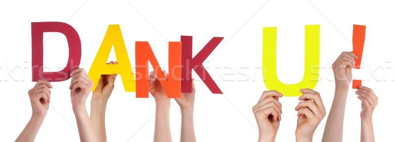 People Holding Dank U Stock photo © Nelosa