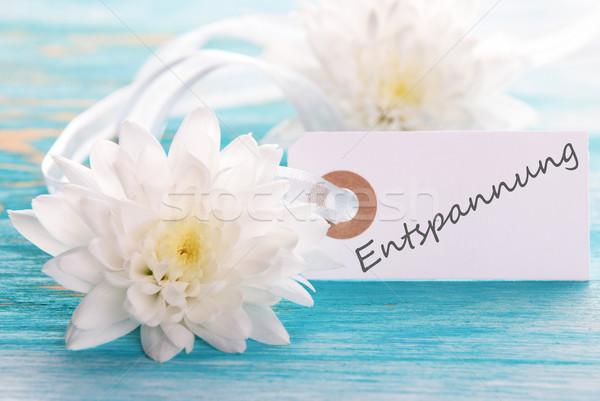 Etiqueta palabra flor madera salud fondo Foto stock © Nelosa