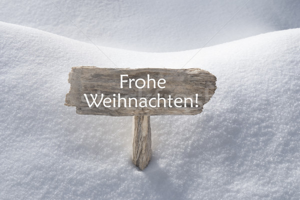 Snow Sign Frohe Weihnachten Mean Merry Christmas Stock photo © Nelosa