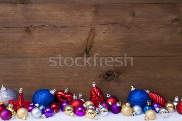 Christmas Card With Colored , Copy Space Stock photo © Nelosa