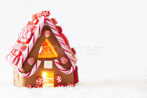Gingerbread House, White Background, Copy Space Stock photo © Nelosa