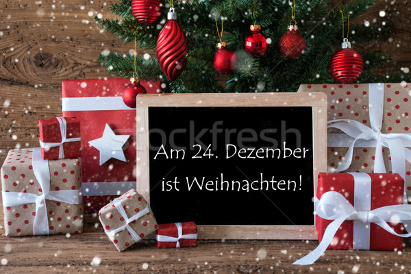 Colorful Tree With Snowflakes, Weihnachten Means Christmas Stock photo © Nelosa