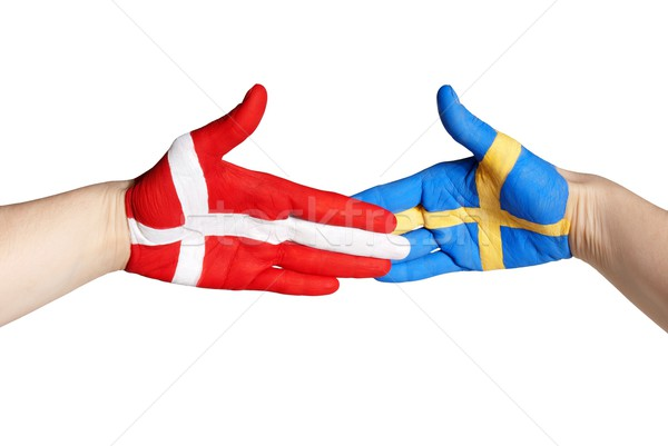 handshake between sweden and denmark Stock photo © Nelosa