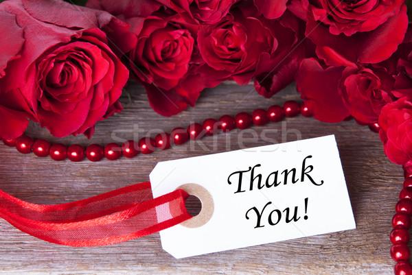 Stock fotó: Rózsa · rózsás · fehér · jegy · köszönjük · virágok