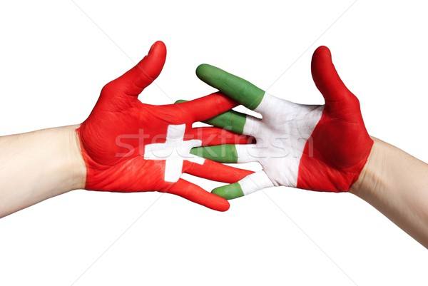 swiss italian partnership Stock photo © Nelosa