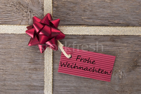Frohe Weihnachten on a red banner Stock photo © Nelosa