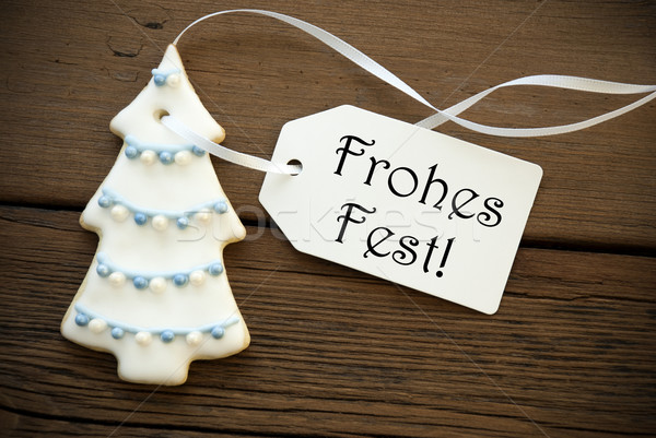 Frohes Fest as Christmas Greeting Stock photo © Nelosa