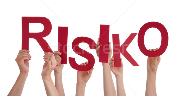 Many People Hands Holding Red Word Risk Stock photo © Nelosa