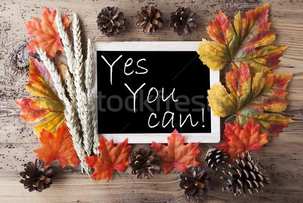 Lavagna autunno decorazione citare sì può Foto d'archivio © Nelosa