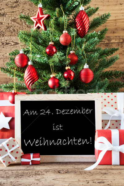 Colorful Tree With Text Weihnachten Means Christmas Stock photo © Nelosa