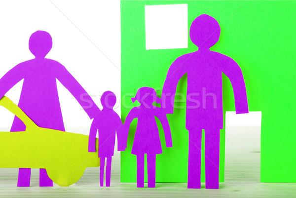 Neon Paper Family Stock photo © Nelosa