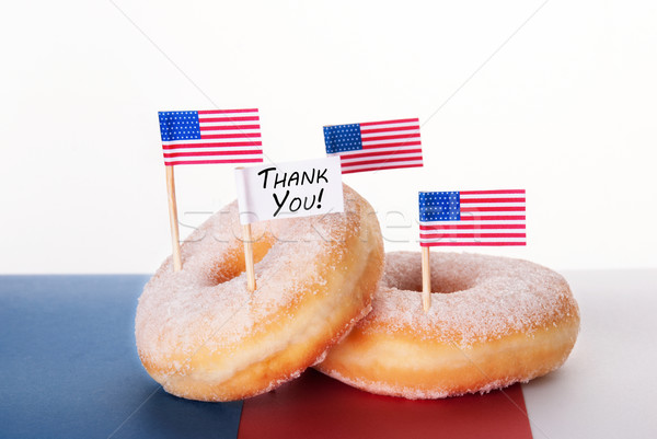 Donuts with Thank You Sign Stock photo © Nelosa