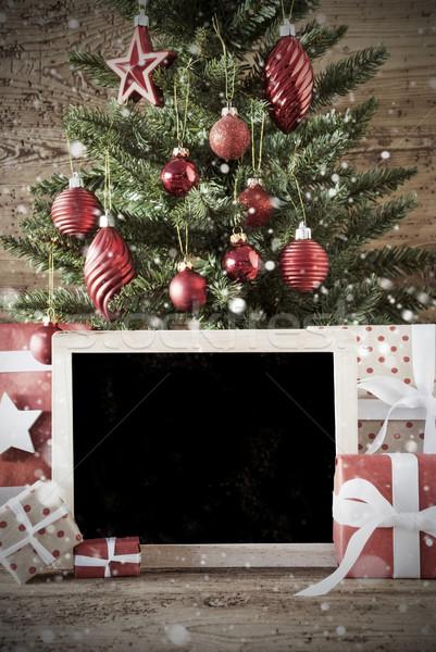 Nostalgisch kerstboom exemplaar ruimte seizoenen Stockfoto © Nelosa