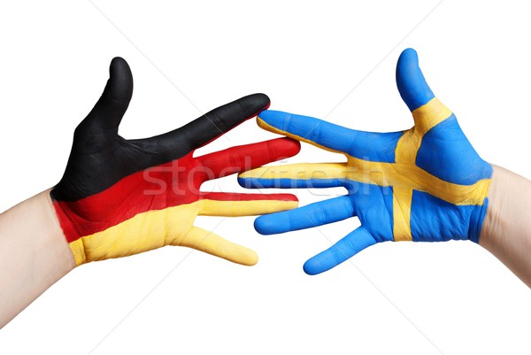 swedish and german hands Stock photo © Nelosa
