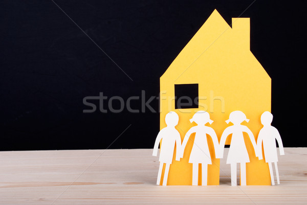 Children in front of a House Stock photo © Nelosa