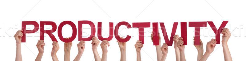 Personnes productivité beaucoup rouge mot Photo stock © Nelosa