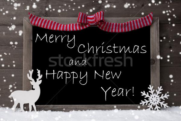 グレー カード 雪 ループ クリスマス 明けましておめでとうございます ストックフォト © Nelosa