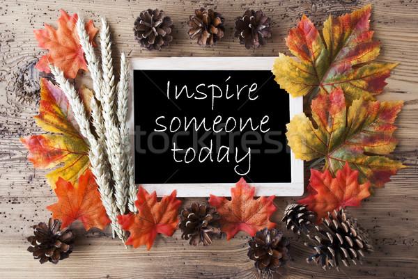 доске осень украшение цитировать кто-то Сток-фото © Nelosa
